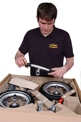 Remove protective materials from components and inspect making sure all parts are there
